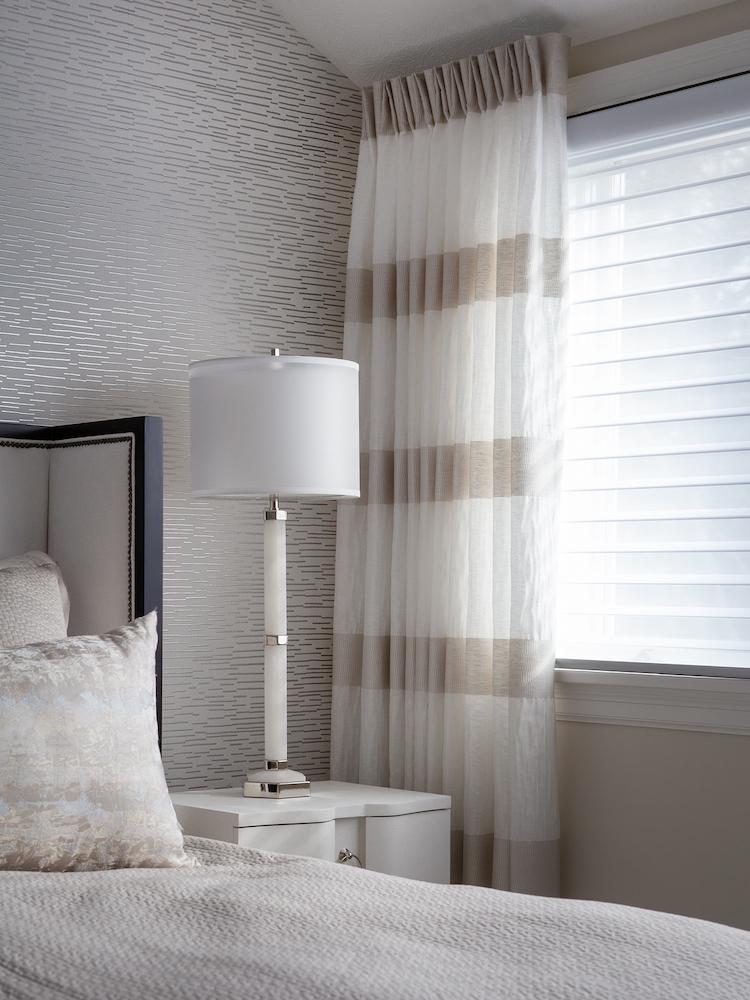 Bedroom Drapery And Custom Pillows