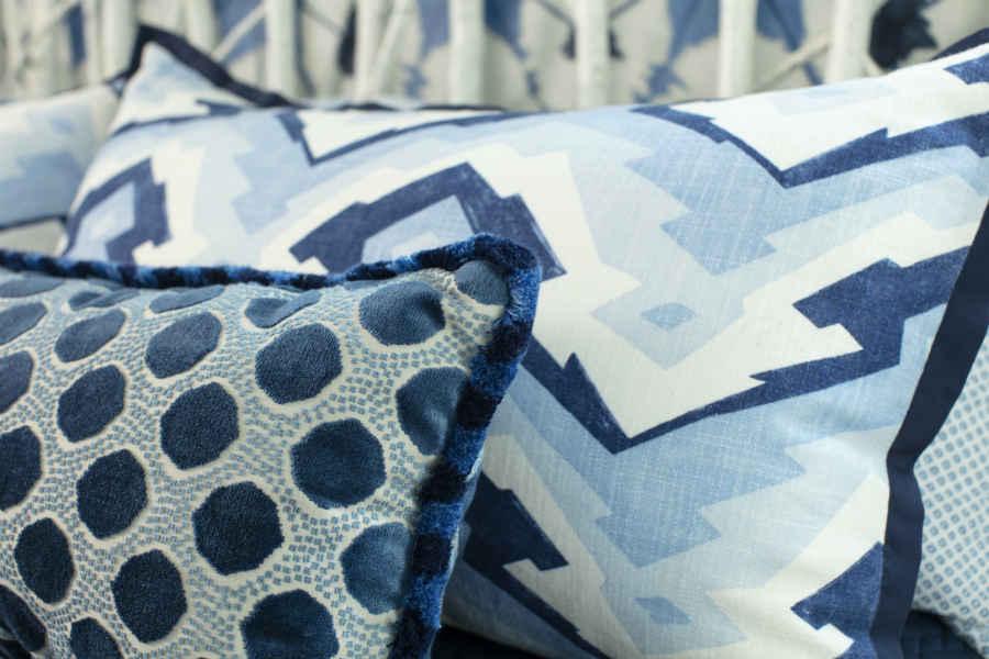 Close Up Of Lumbar Pillow And King Sham