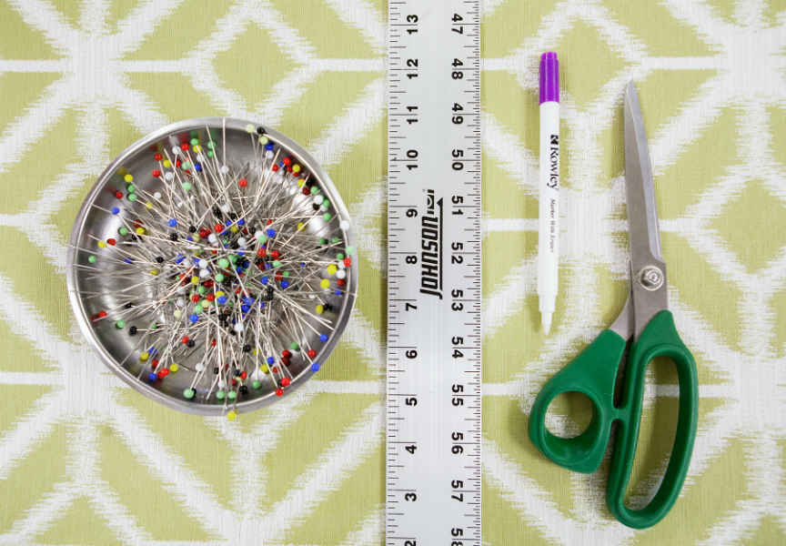 Scissors Pins Roller Marker