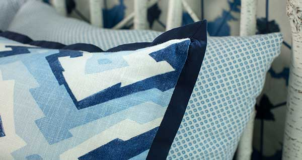 Custom Pillow With Mitered Flange