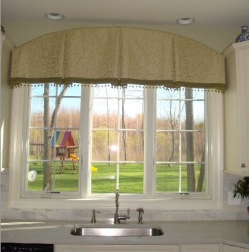 Arched top box pleat valance