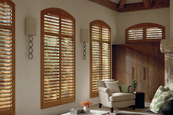 Real Wood Arch Top Shutter 1